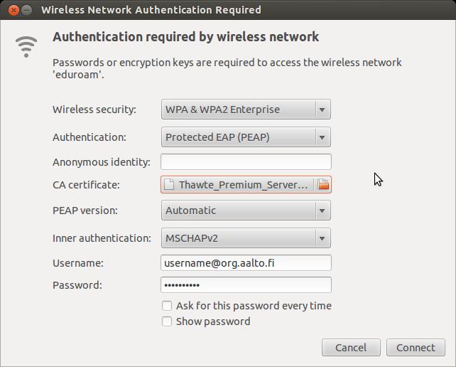 SOLVED] Connecting eduroam network via netctl / Networking, Server